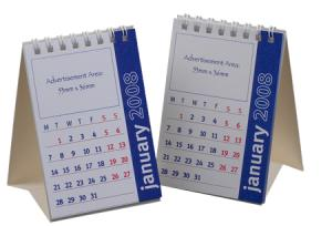 A7 Small Desk Calendar 12 Leaves