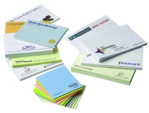 A7 Post-It Notes 50 Sheets Printed One Colour.