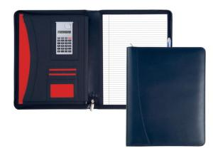 A4 Warwick Zipped Conference Folder with Calculator