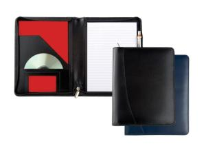 A5 Zipped Warwick Conference Folder in Genuine Leather