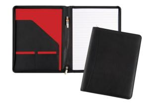 A4 Zipped Cavendish Conference Folder in Calf Leather