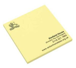 Sticky-Smart Notes 3ins x 3ins 50 Sheets Printed 4 Colour Process