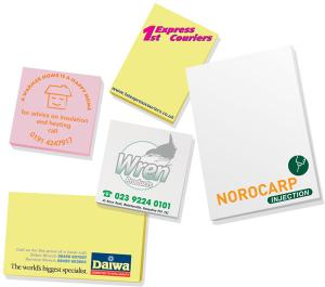 Sticky Mate 2 Notepads 50 Sheets Printed 4 Colour Process