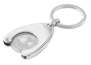 Trolley Coin in Wishbone Keyring(Engraved)