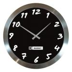 Wall Clock with Stainless Steel Surround