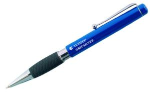 Tethys Grip Silver Retractable Ballpen
