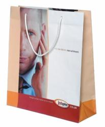 White Gloss Laminated Paper Carrier Bag