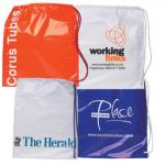 BIO-DEGRADABLE White Duffle Style Carrier Bag